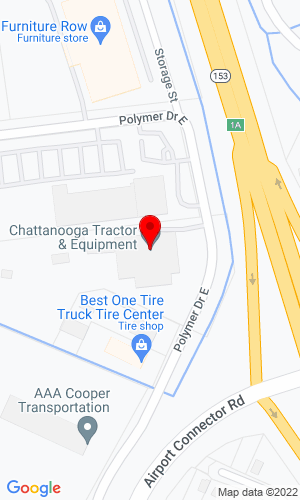 Google Map of Chattanooga Tractor & Equipment 2034 Ploymer Drive, Chattanooga, TN, 37421