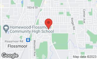 Map of 2035 Cummings Lane FLOSSMOOR, IL 60422