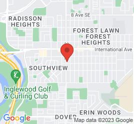 Google Map of 2036+36+Street+SE%2CCalgary%2CAlberta+T2B+0X8
