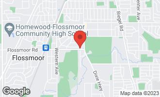 Map of 2036 Evans Road FLOSSMOOR, IL 60422