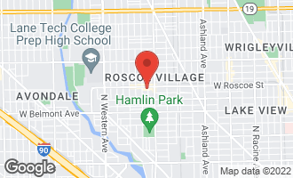 Map of 2037 West Roscoe Street Chicago, IL 60618