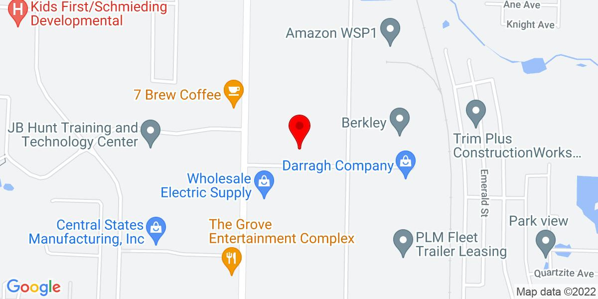 Google Map of 204 Commercial Avenue  Lowell, AR 72745