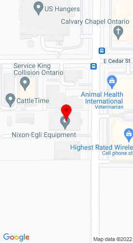 Google Map of Nixon-Egli Equipment Co. 2044 S Vineyard Avenue, Ontario, CA, 91761