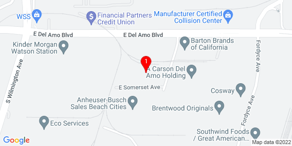 Google Map of 20455 Reeves Avenue, Carson CA  90810