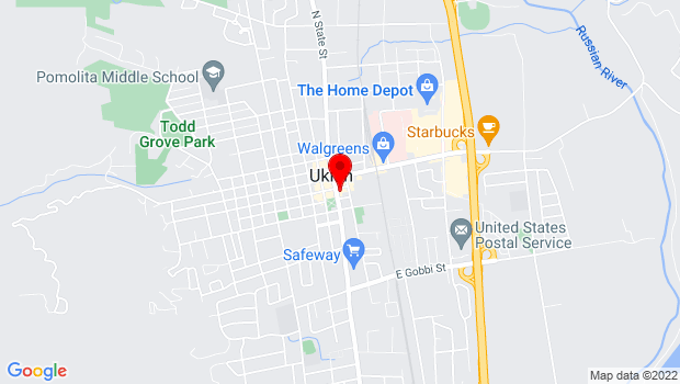 Google Map of 205 South State St, Ukiah, CA 95482