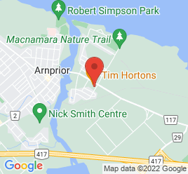 Google Map of 205+Madawaska+Blvd%2CArnprior%2COntario+K7S+1S6