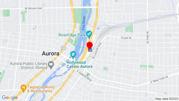 Google Map of 205 N. Broadway, Aurora, IL 60505