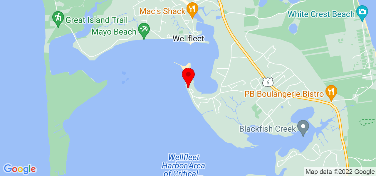 Google Map of 205 Samoset Ave Wellfleet MA