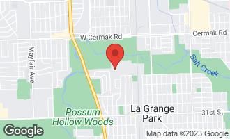 Map of 205 Huntington Court LA GRANGE PARK, IL 60526