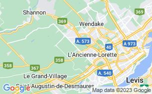 Map of Camping Québec En Ville