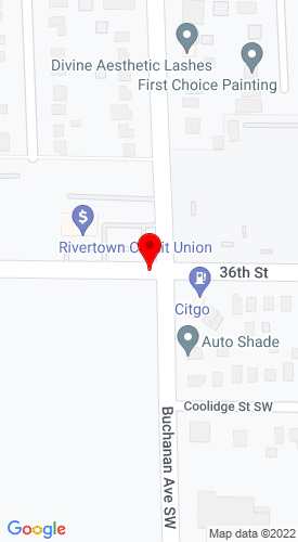 Google Map of Hoeskstra Truck Equipment 206 36th Street, Grand Rapids, MI, 49548