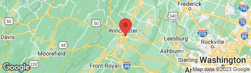 Map of 206 CREST CIRCLE WINCHESTER, VA 22602