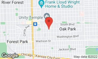 Map of 206 South Grove Avenue OAK PARK, IL 60302