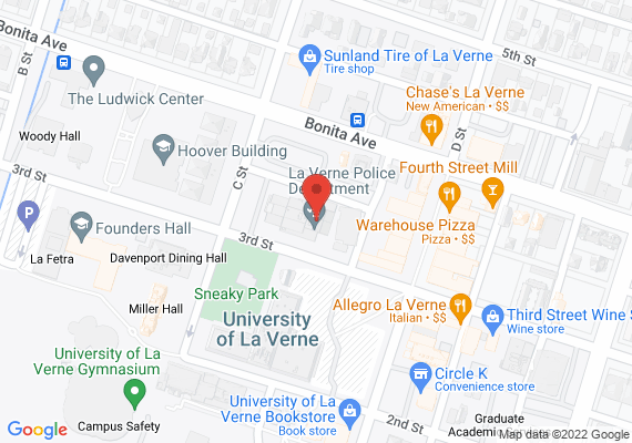 Location of La Verne Police Department