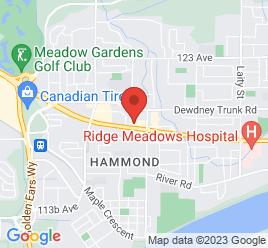 Google Map of 20611+Lougheed+Highway%2CMaple+Ridge%2CBritish+Columbia+V2X+2P9