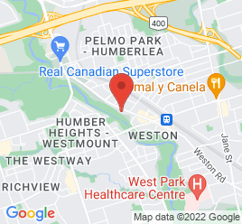 Google Map of 2062+Weston+Road%2CToronto%2COntario+M9N+1X5