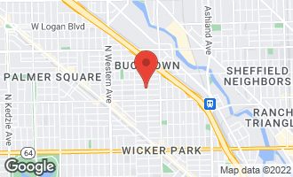 Map of 2062 North Hoyne Avenue CHICAGO, IL 60647