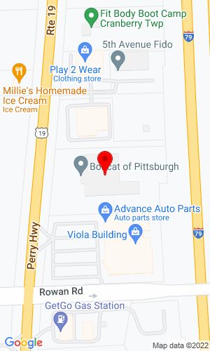 Google Map of Bobcat of Pittsburgh 20620 Route 19 North, Cranberry Township, PA, 16066