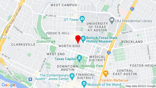 Google Map of 207 W 18th St, Austin, TX