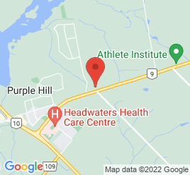 Google Map of 207155+Hwy+9+East%2COrangeville%2COntario+L9W+2Z7