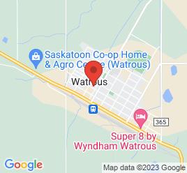 Google Map of 208+1st+Ave+East+Box+70%2CWatrous%2CSaskatchewan+S0K+4T0