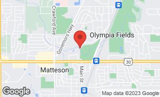 Map of 20841 Oak Lane Drive OLYMPIA FIELDS, IL 60461
