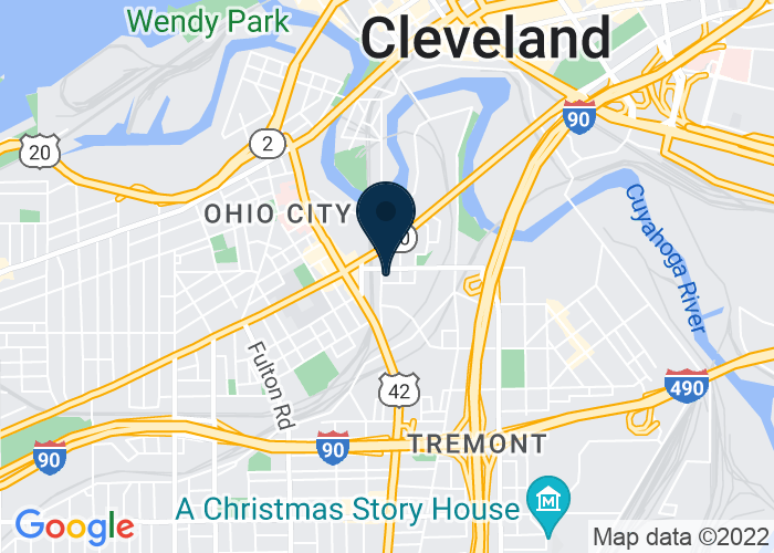 Map of 2095 Columbus Rd, Cleveland, OH 44113, United States