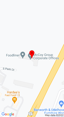 Google Map of McCoy Construction & Forestry 2099 Southpark Ct, Dubuque, IA, 52003