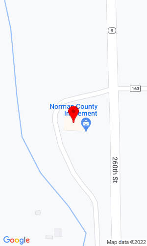 Google Map of Norman County Implement, Inc 2099 State Hwy 9, Ada, MN, 56510-9505