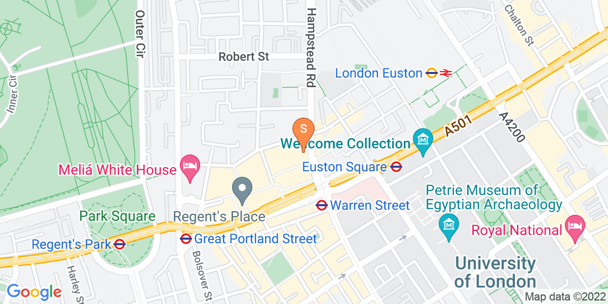 Google Map of 21 Hampstead Road London NW1 3DP