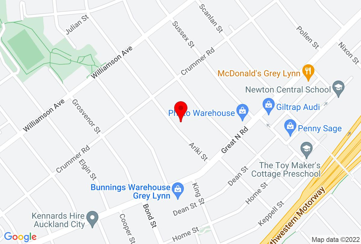 Google Map of 21 Ariki St Grey Lynn Auckland 1021 New Zealand