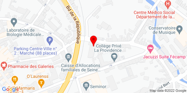Google Map of rue+Aumône, 76400 Fécamp, France