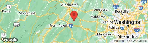 Map of 21 HOBBS KNOB FRONT ROYAL, VA 22630