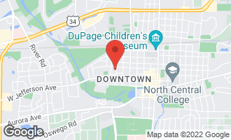 Map of 21 South West Street NAPERVILLE, IL 60540