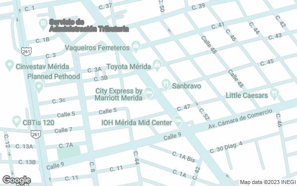Static Map - City Express Merida