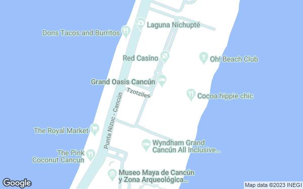 Static Map - Grand Oasis Cancun All Inclusive