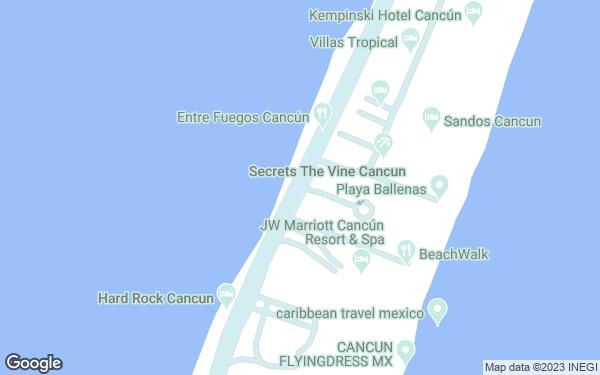 Static Map - Hard Rock Hotel Cancun All Inclusive