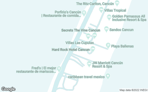 Static Map - Hard Rock Hotel Cancun All Inclusive
