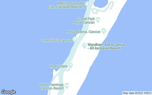 Static Map - Panama Jack Resorts Cancun All Inclusive, Formerly Gran Caribe