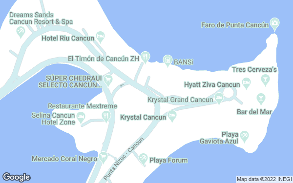 Static Map - Aloft Cancun