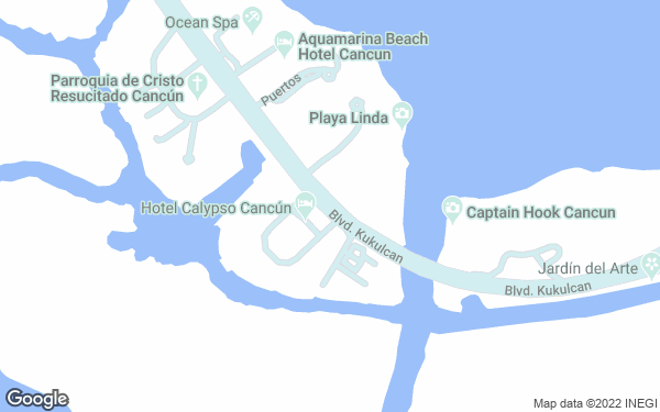 Static Map - Grand Oasis Palm All Inclusive