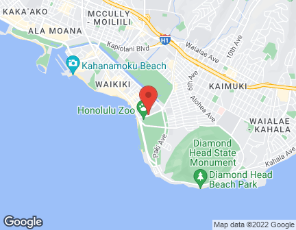 Map of 208 Kapahulu Avenue in Honolulu