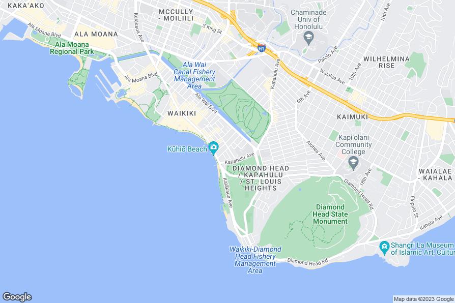 Waikiki Beach Restaurants Map