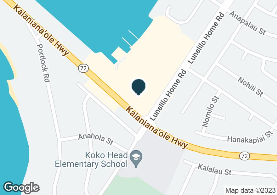 Google Map of7192 KALANIANAOLE HWY