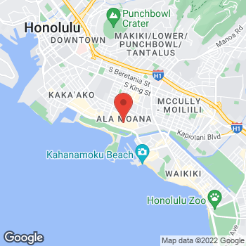 Map of Sunglass Hut at 1450 Ala Moana Blvd, Honolulu, HI 96814