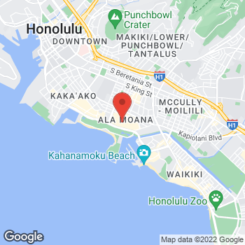 Map of BCBGMAXAZRIA at 1450 Ala Moana Boulevard, Honolulu, HI 96814