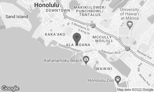 Map of 1450 Ala Moana Boulevard in Honolulu