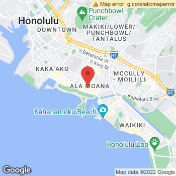 Map of American Eagle Store at 1450 Ala Moana Boulevard, Honolulu, HI 96814