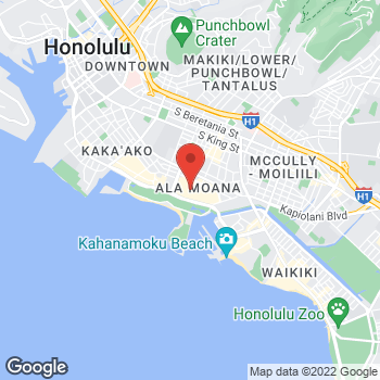 Map of Oakley Store at 1450 Ala Moana Blvd, Honolulu, HI 96814
