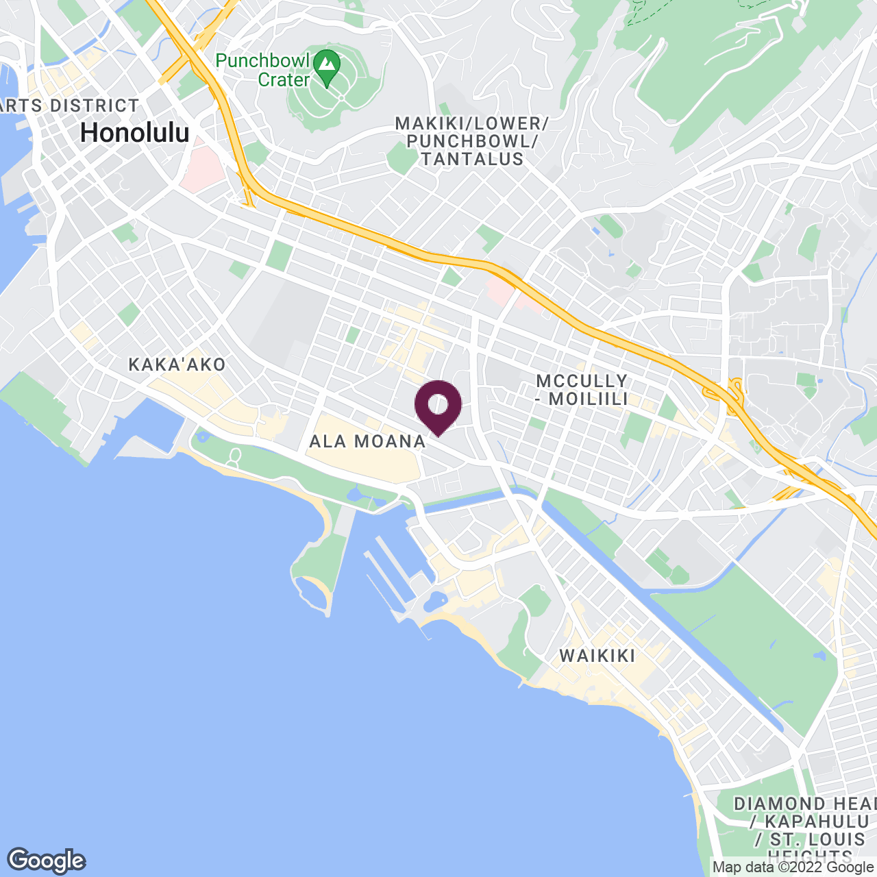 Google Maps static image of Honolulu, HI